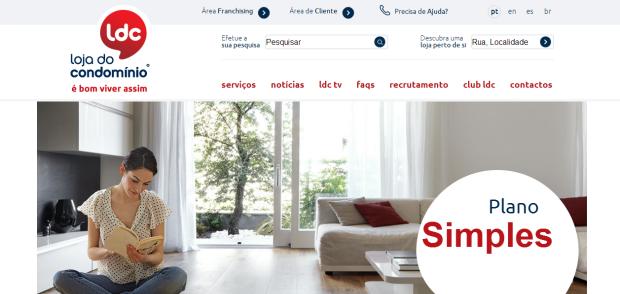 Loja do Condomínio renova imagem do seu website