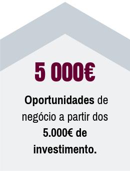 Desde 5 000€ de investimento